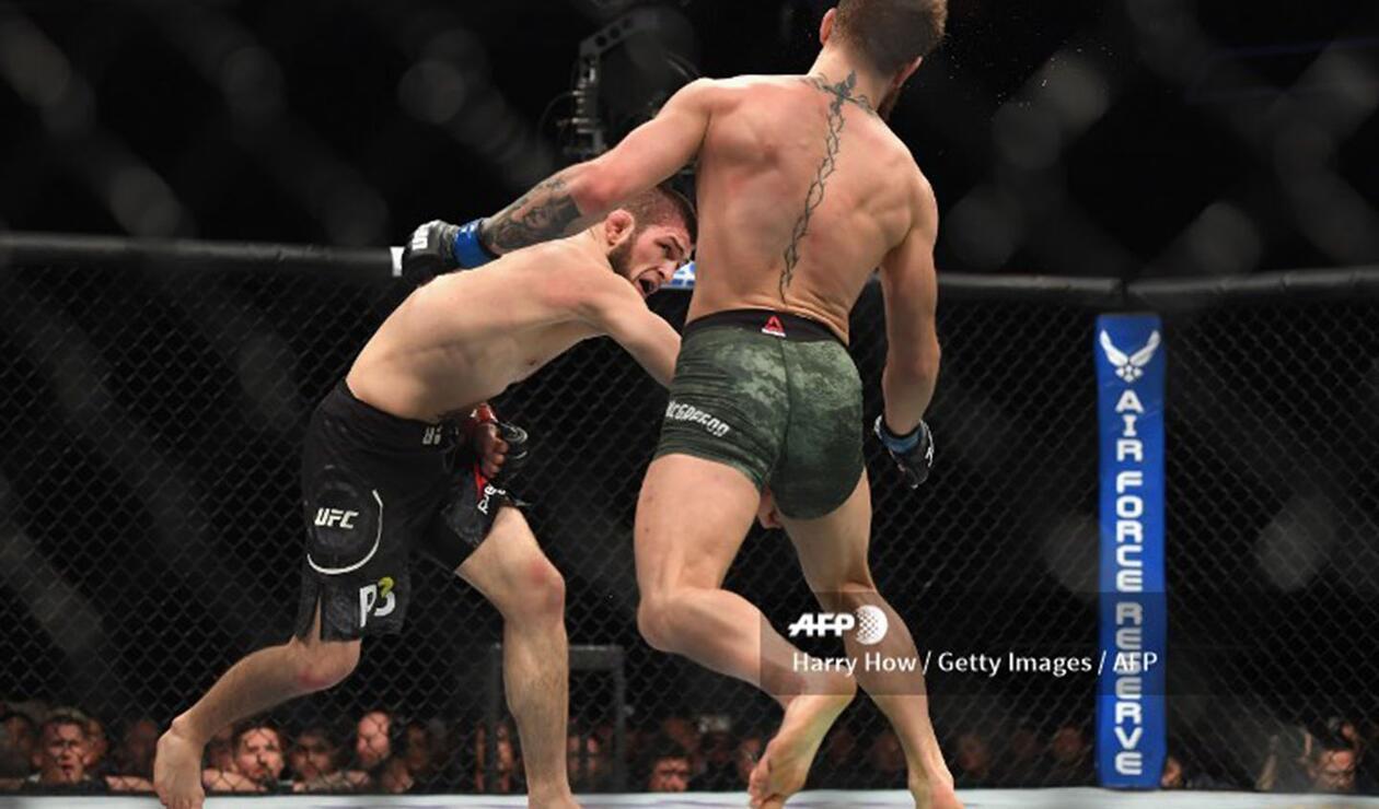 Conor McGregor vs Khabib Nurmagomedov acabó con la victoria del ruso