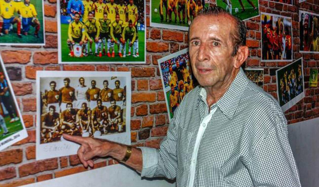 'El Cuca' Aceros, mundialista con la Selección Colombia en Chile 62