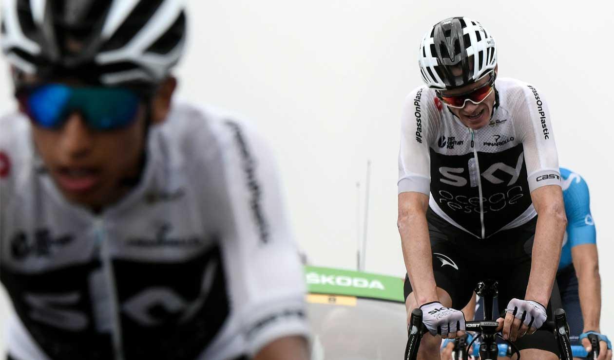 Egan Bernal y Chris Froome en el Tour de Francia 2018