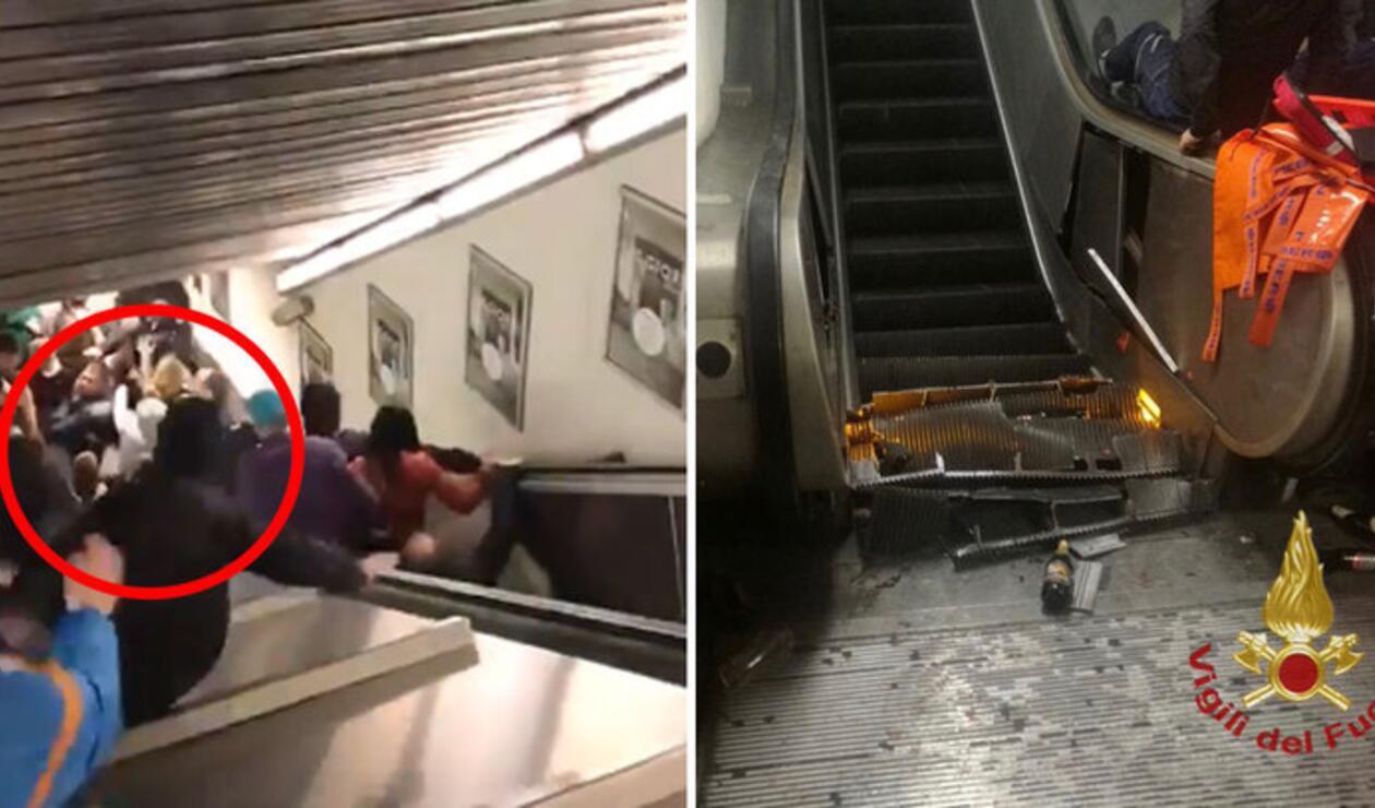 Un aficionado del CSKA podría perder su pie, tras el accidente en el metro de Roma