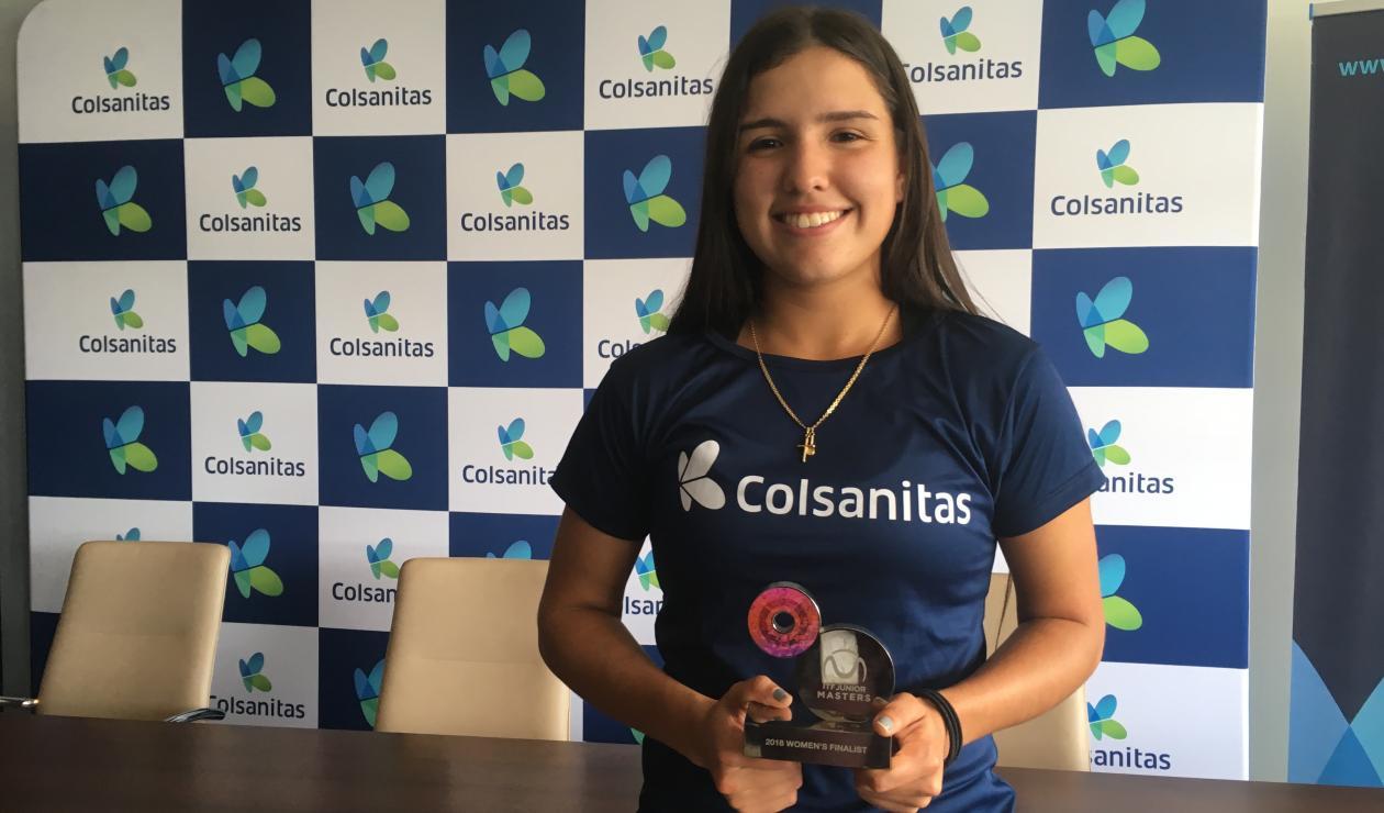 María Camila Osorio- subcanmpeona del Masters Junior