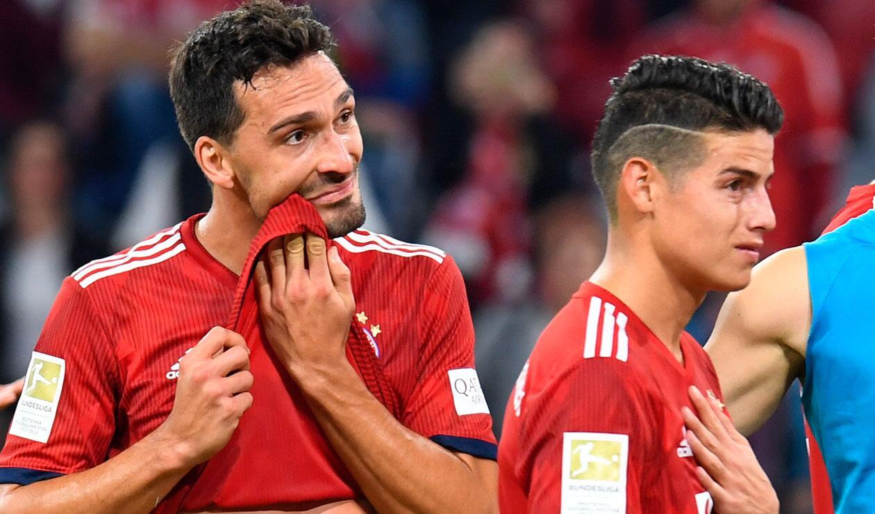 James Rodríguez y Matt Humels, jugadores que no estarían contentos con el actual técnico del Bayern Munich