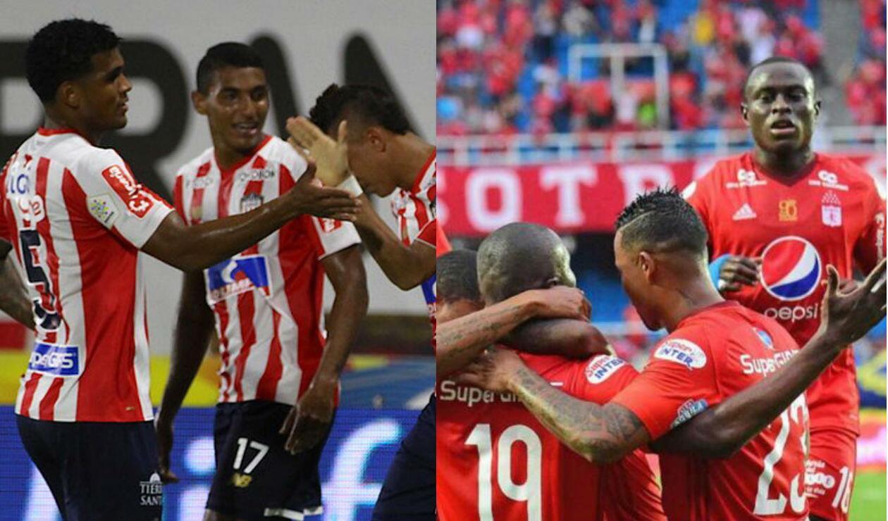 Junior y América, equipos de la Liga Águila