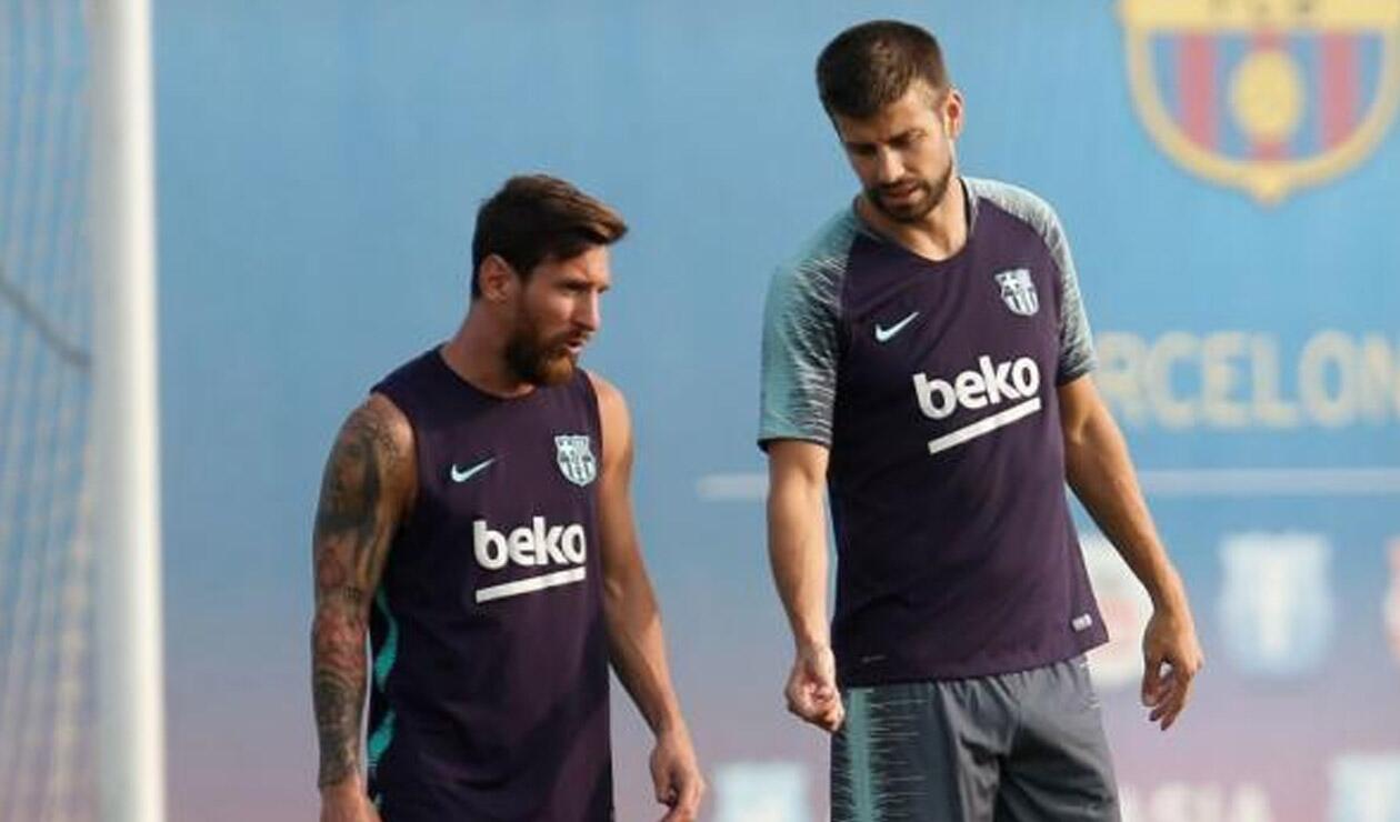 Lionel Messi y Piqué