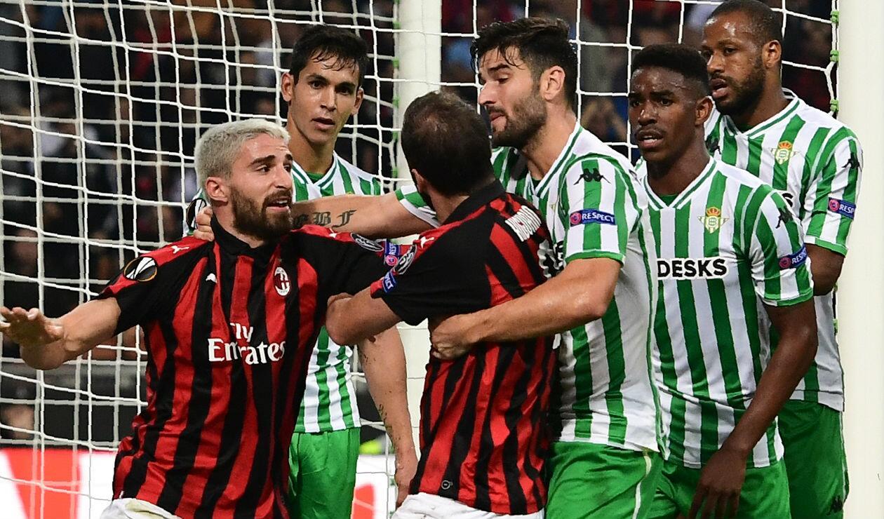 Real Betis derrotó al Milan por Europa League