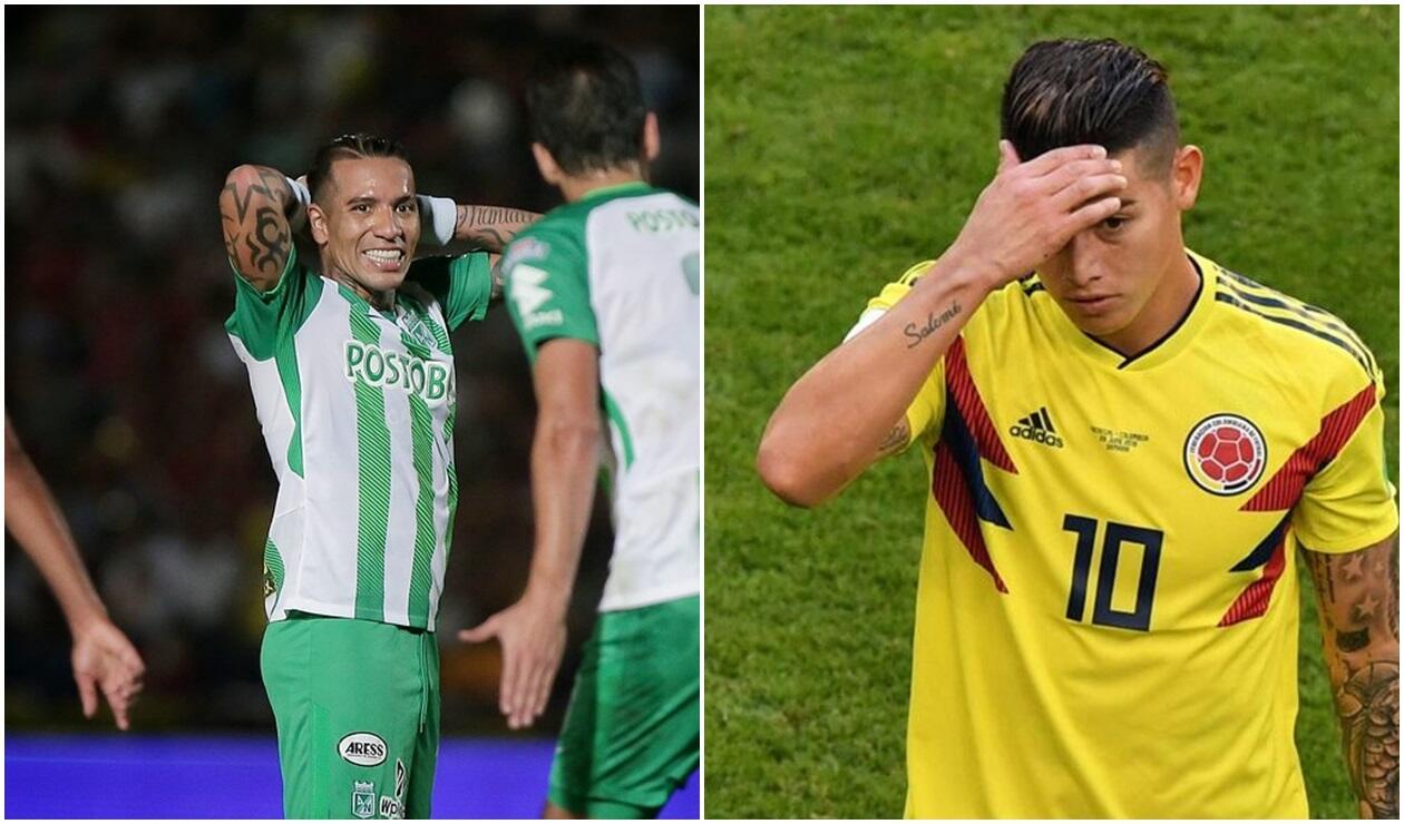 Dayro Moreno (Atlético Nacional) y James Rodríguez (Selección Colombia)
