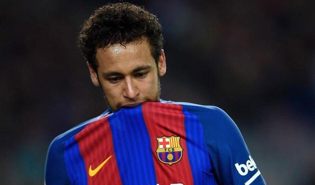 Neymar jugando para el Barcelona