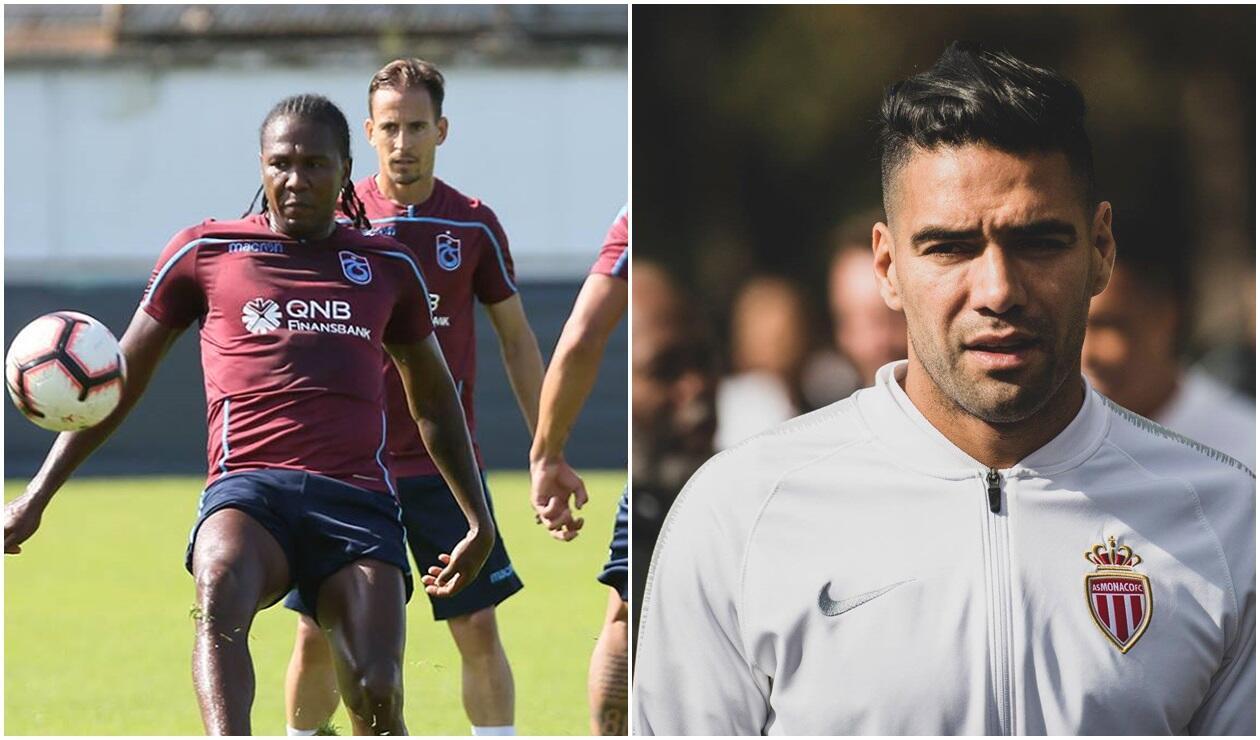 Hugo Rodallega (Trabzonspor) y Falcao García (Mónaco)