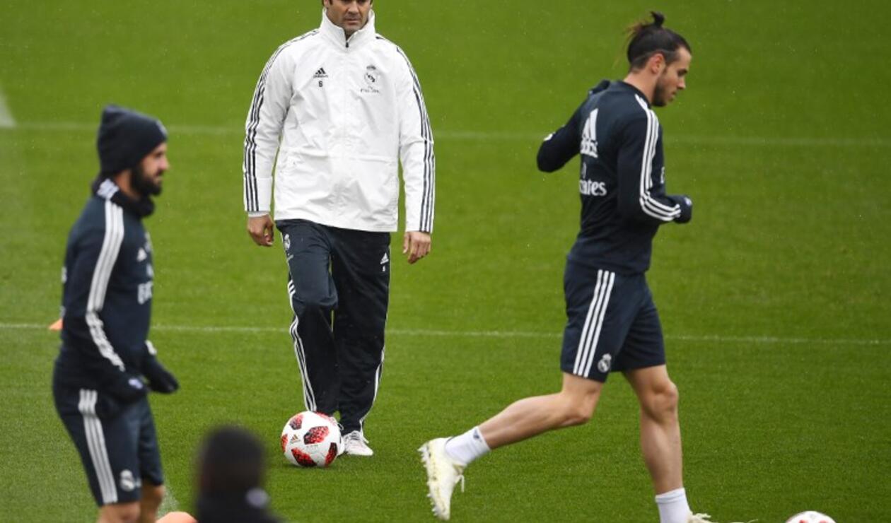 Santiago Solari - Primer entrenamiento dirigiendo el Real Madrid