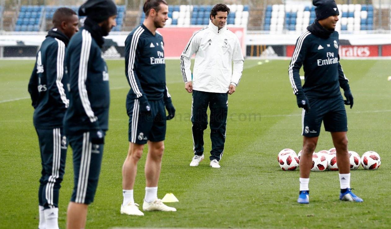 Santiago Solari, primer entrenamiento dirigiendo el Real Madrid
