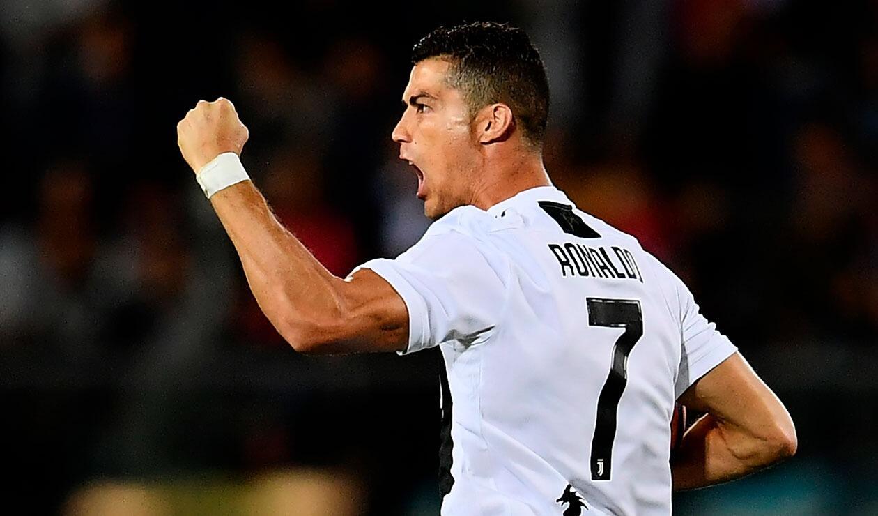 Cristiano Ronaldo celebra su doblete ante Empoli