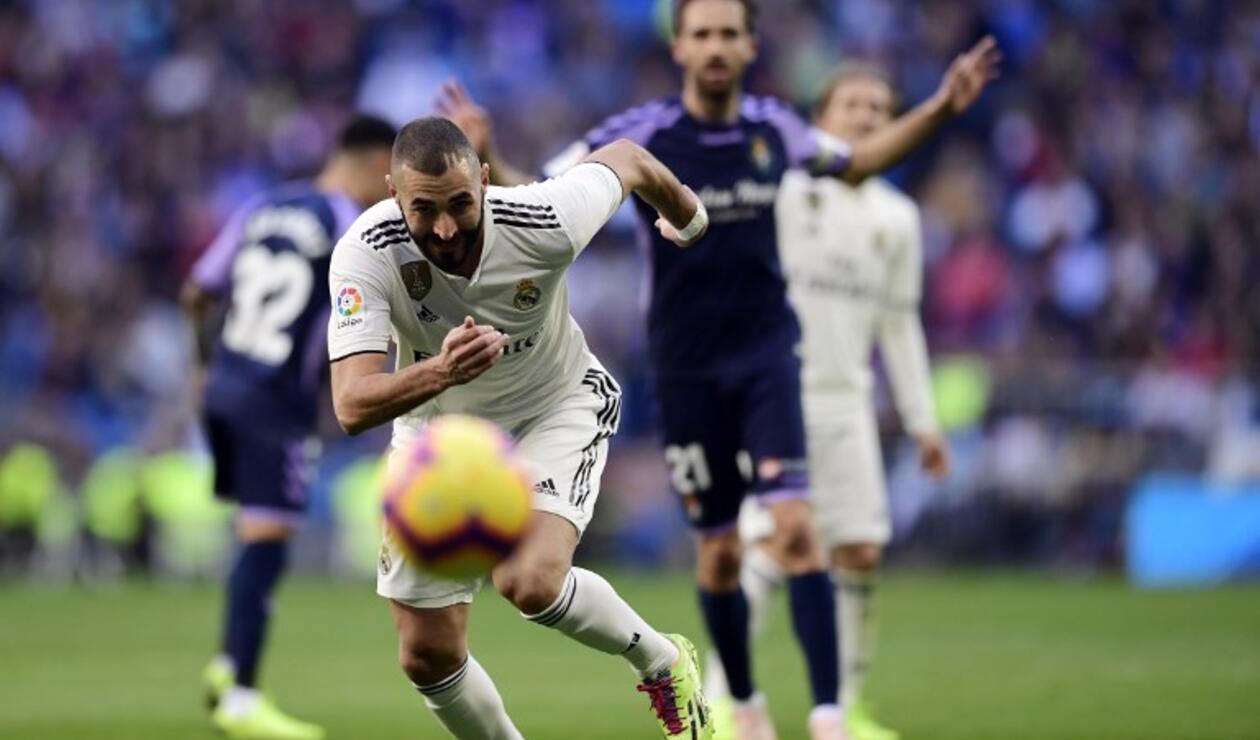 Real Madrid salió entre silbidos al final del primer tiempo en el partido ante Valladolid