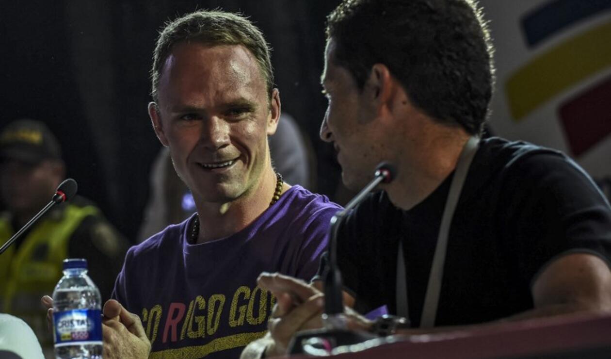 Chris Froome junto a su excompañero en el SKY, Sergio Luis Henao