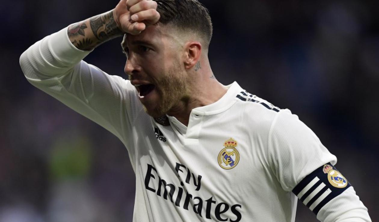 Sergio Ramos, central español del Real Madrid