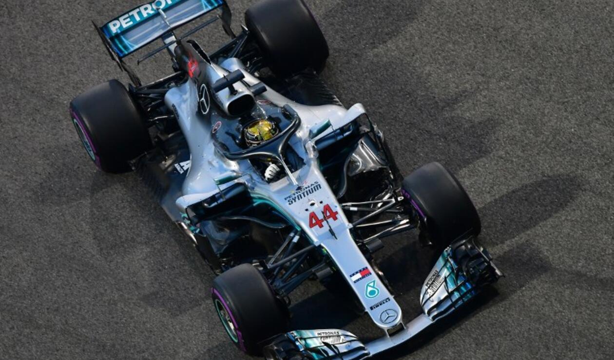 Lewis Hamilton, ganador del Gran Premio de Abu Dhabi
