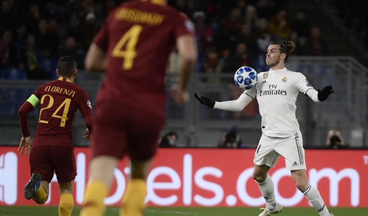 Gareth Bale en juego ante la Roma por la Champions 18-19