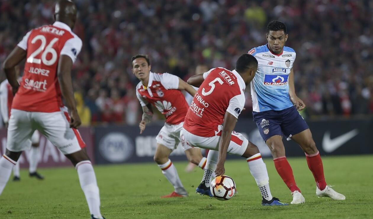 Junior, con la ventaja ante Santa Fe en las semifinales de la Sudamericana