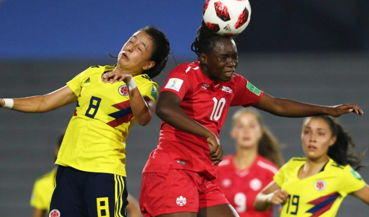 Colombia perdió con Canadá en su debut en el Mundial femenino sub 17