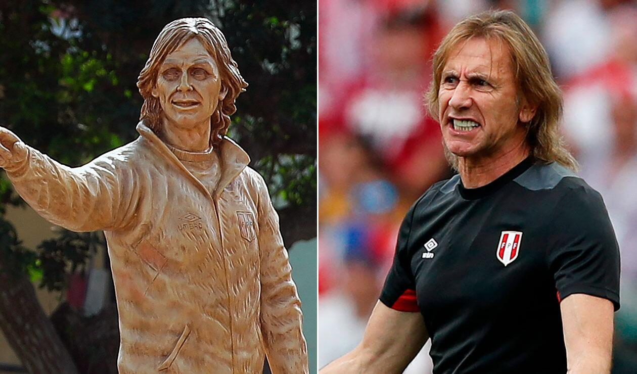 La estatua a Ricardo Gareca en Perú tras la clasificación al Mundial
