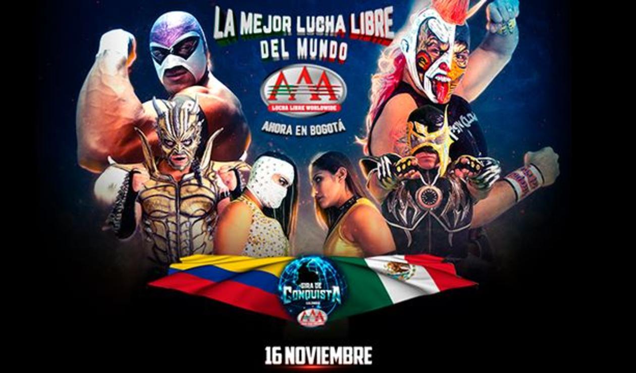 Lucha libre mexicana AAA en Bogotá