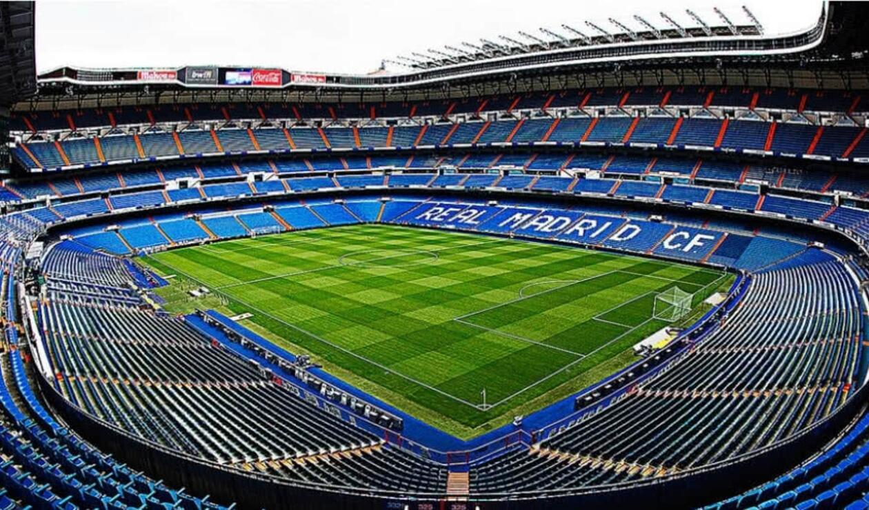 El estadio Santiago Bernabéu donde se jugará la final de la Copa Libertadores entre River y Boca