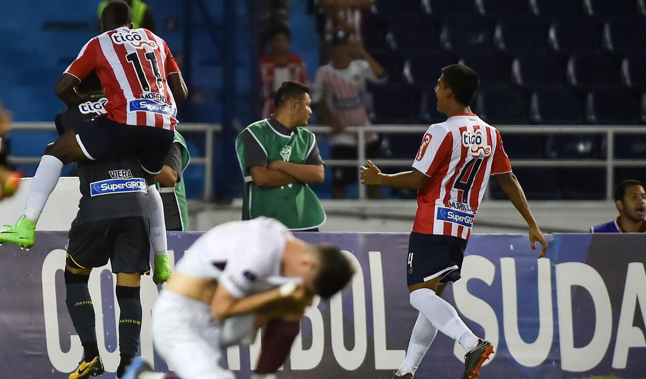 Junior eliminó a Colón en la Copa Sudamericana.