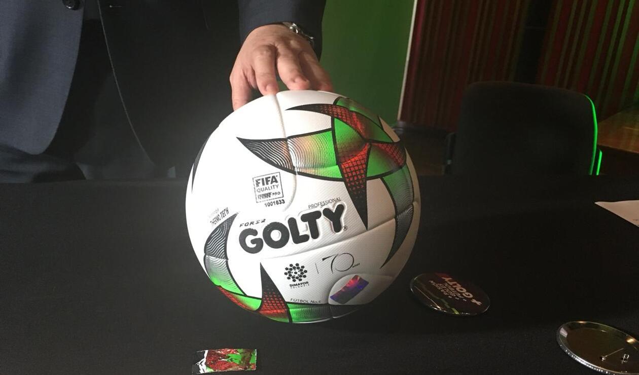El balón Golty para la temporada 2019 en el fútbol profesional colombiano