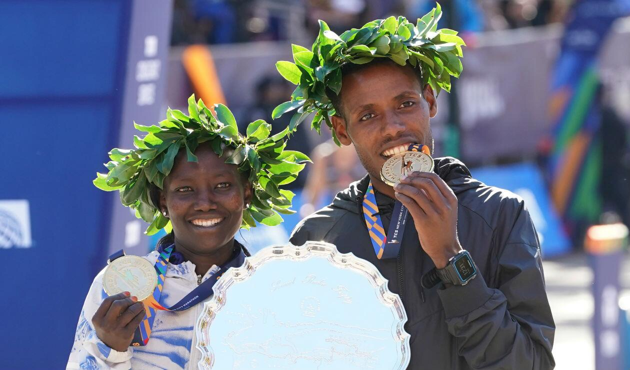 Lelisa Desisa y Mary Keitany, vencedores en la maratón de N.Y. 2018