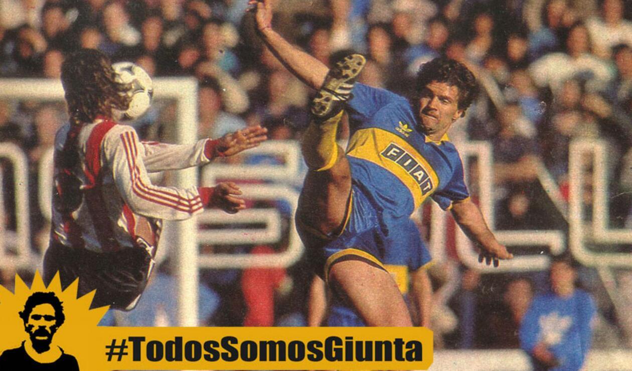 9. Blas Armando Giunta. Fue un ídolo de La 12, principal barra de Boca Juniors. Su juego, lucha y entrega es parte del ADN boquense.