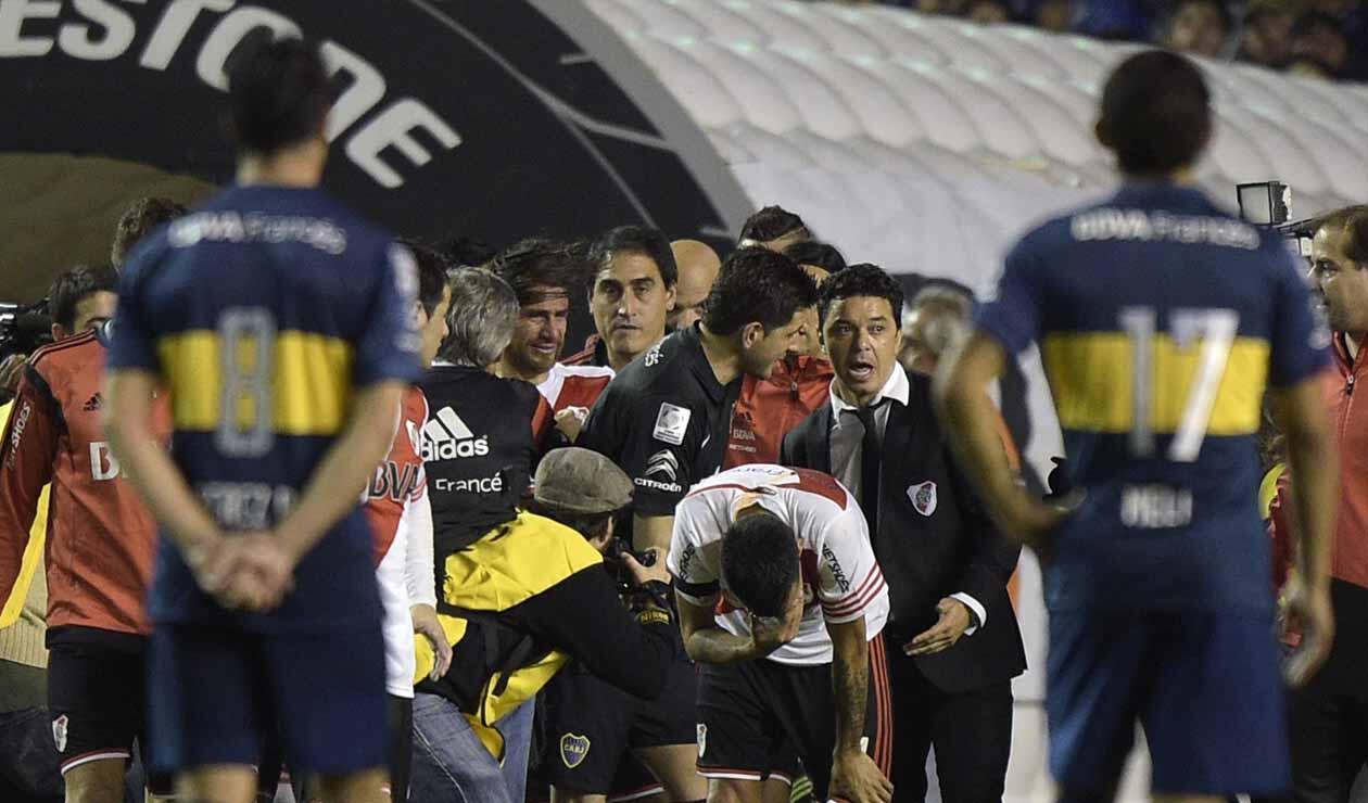 Boca - River, gas pimienta Libertadores 2015