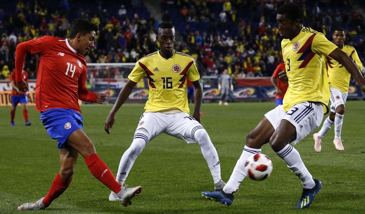 Crisitan Borja y Óscar Murillo con la Selección Colombia