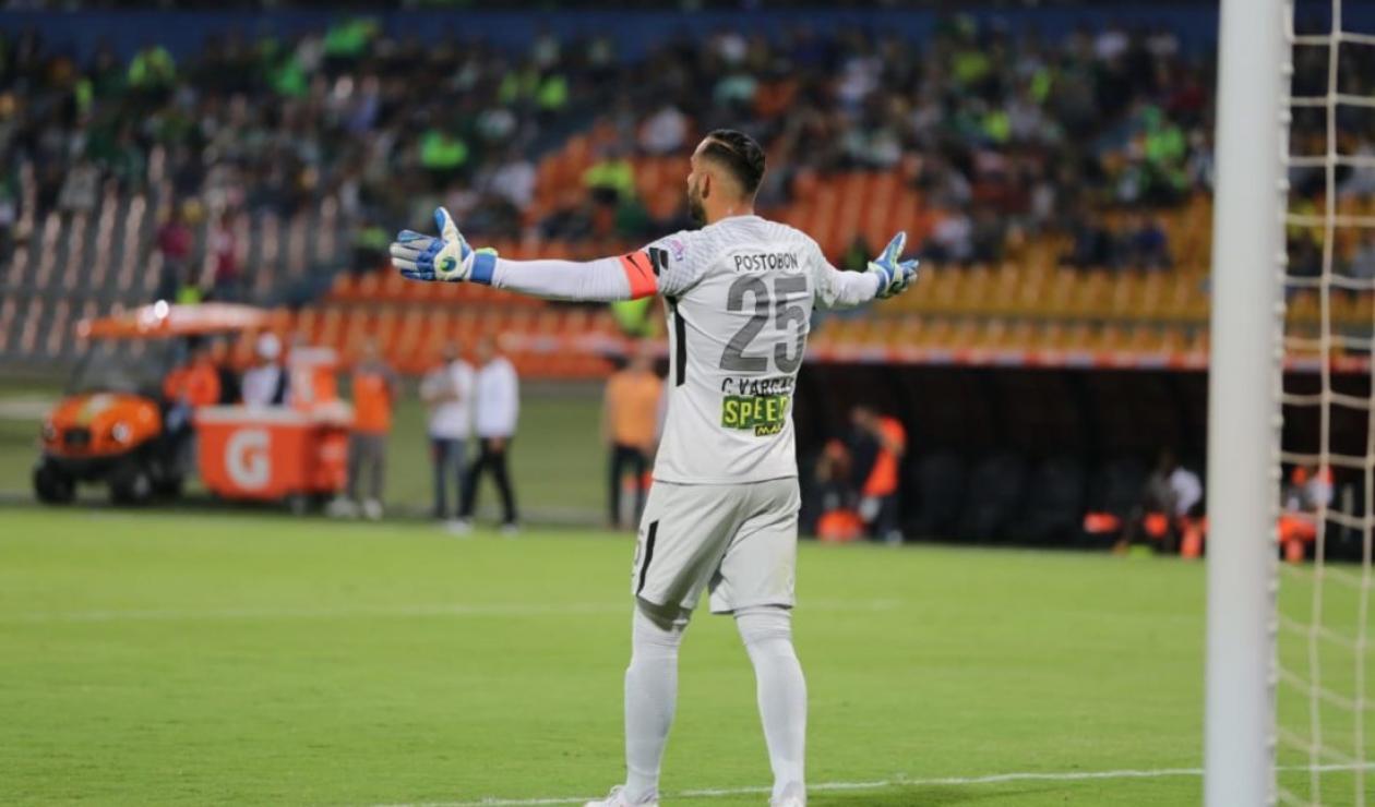 Christian Vargas, portero de Nacional