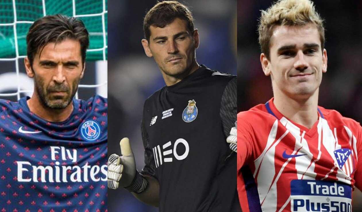 Gianluigi Buffon, Iker Casillas y Antoine Griezmann