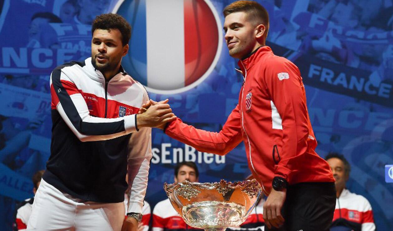 Jo-Wilfried Tsonga y Borna Coric - Copa Davis 2018