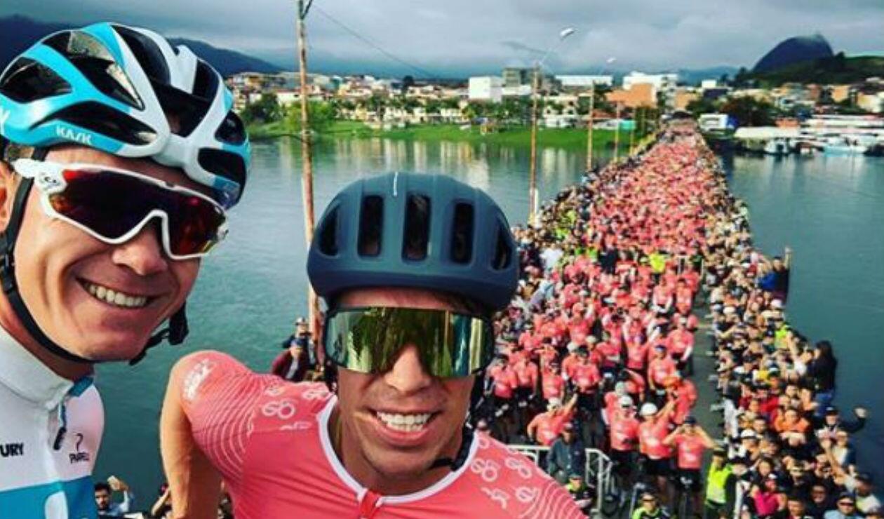 Chris Froome y Rigoberto Urán - El Giro de Rigo
