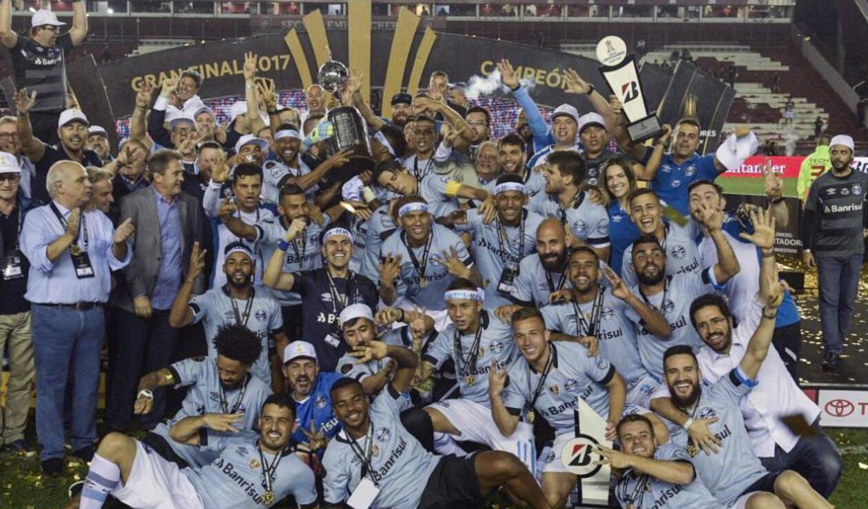 Grêmio (Brasil), campeón de la Copa Libertadores 2017.
