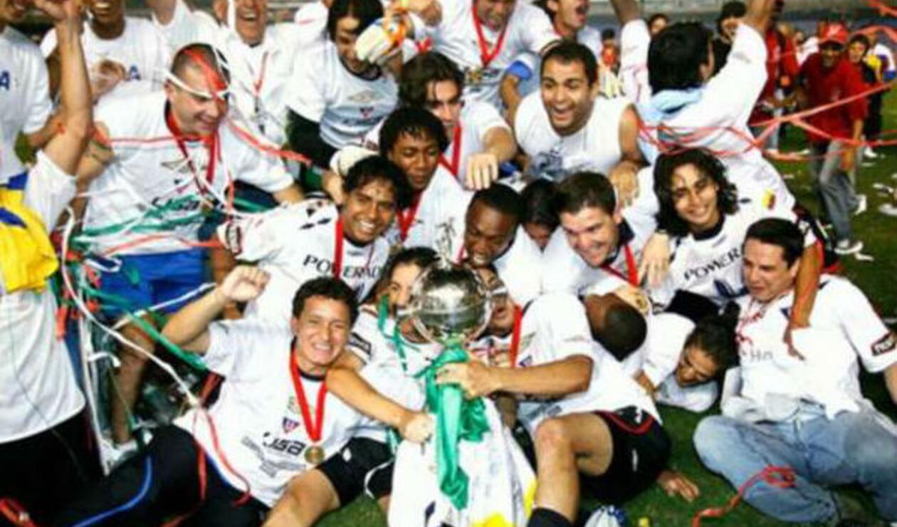 Liga de Quito (Ecuador), campeón de la Copa Libertadores 2008.