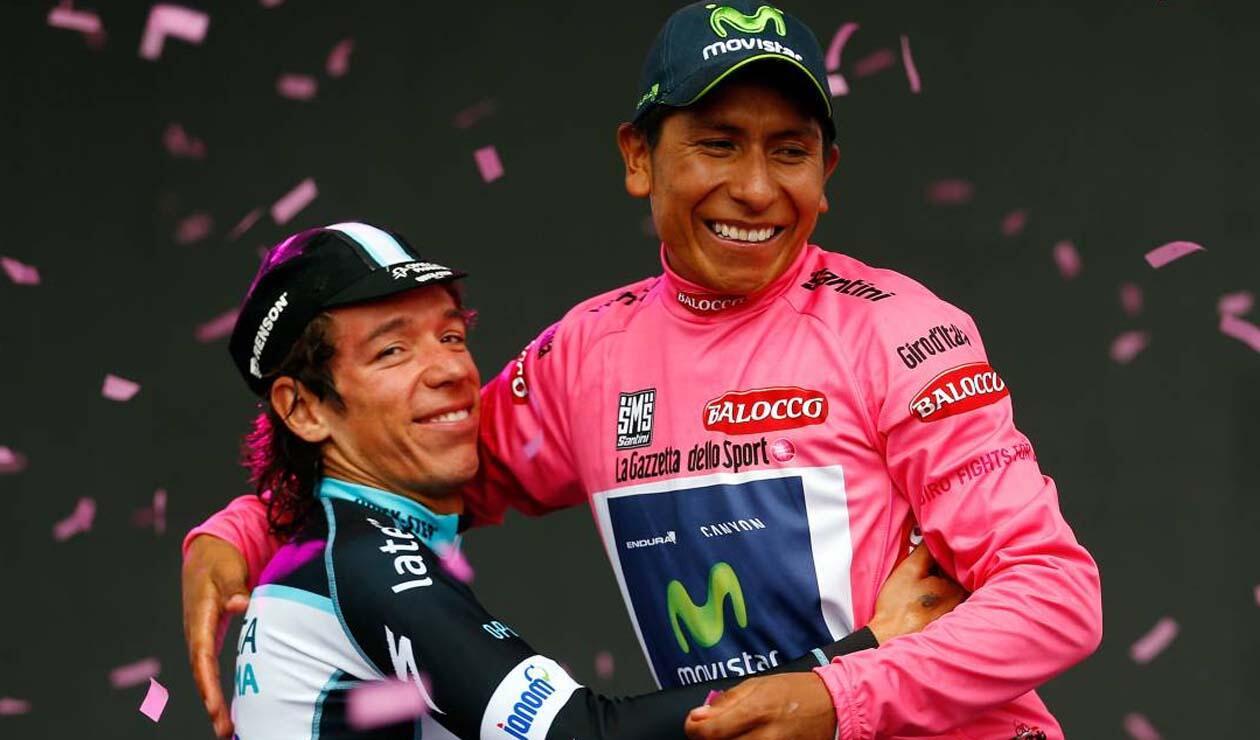 Rigoberto Urán y Nairo Quintana, tras el Giro de Italia 2014