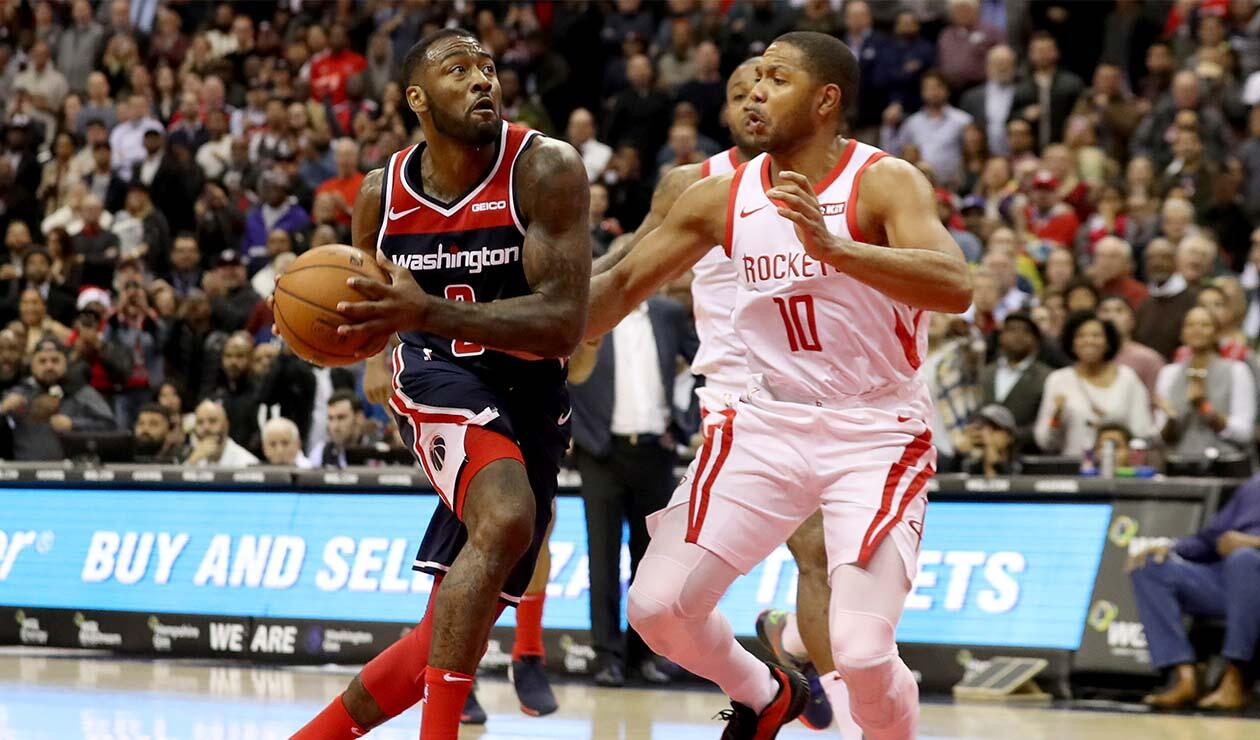 Los Houston Rockets cayeron ante los Washington Wizards en la NBA