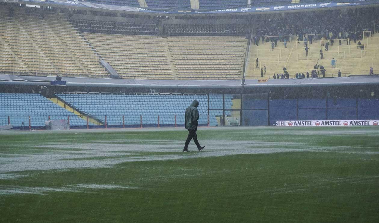 Cancha de La Bombonera antes del Boca - River, final de la Libertadores