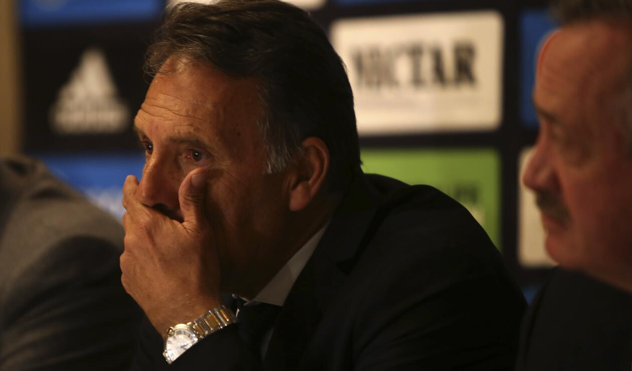 Miguel Ángel Russo se mostró triste en la rueda de prensa y agradeció a Millonarios