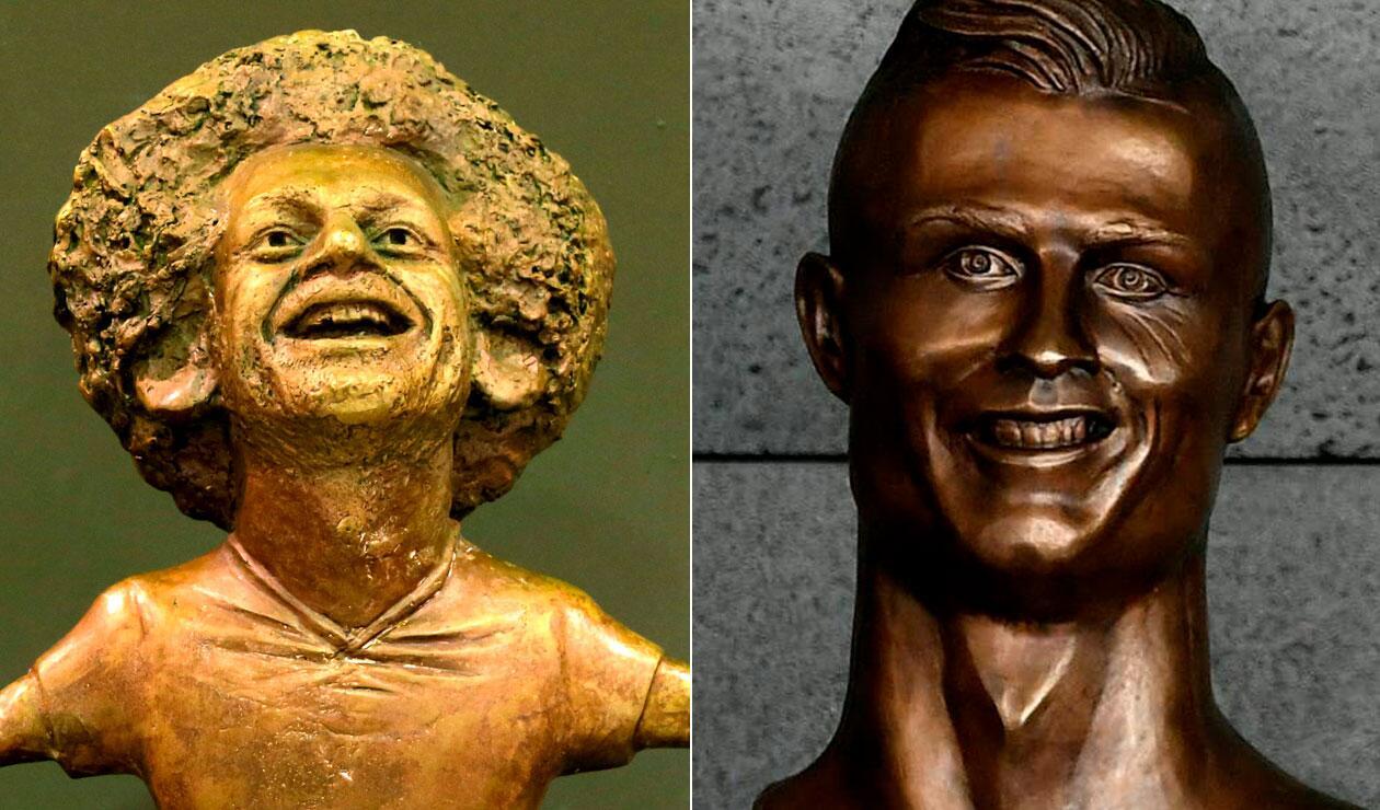 Salah y Cristiano, blanco de las burlas por los particulares homenajes que les hicieron