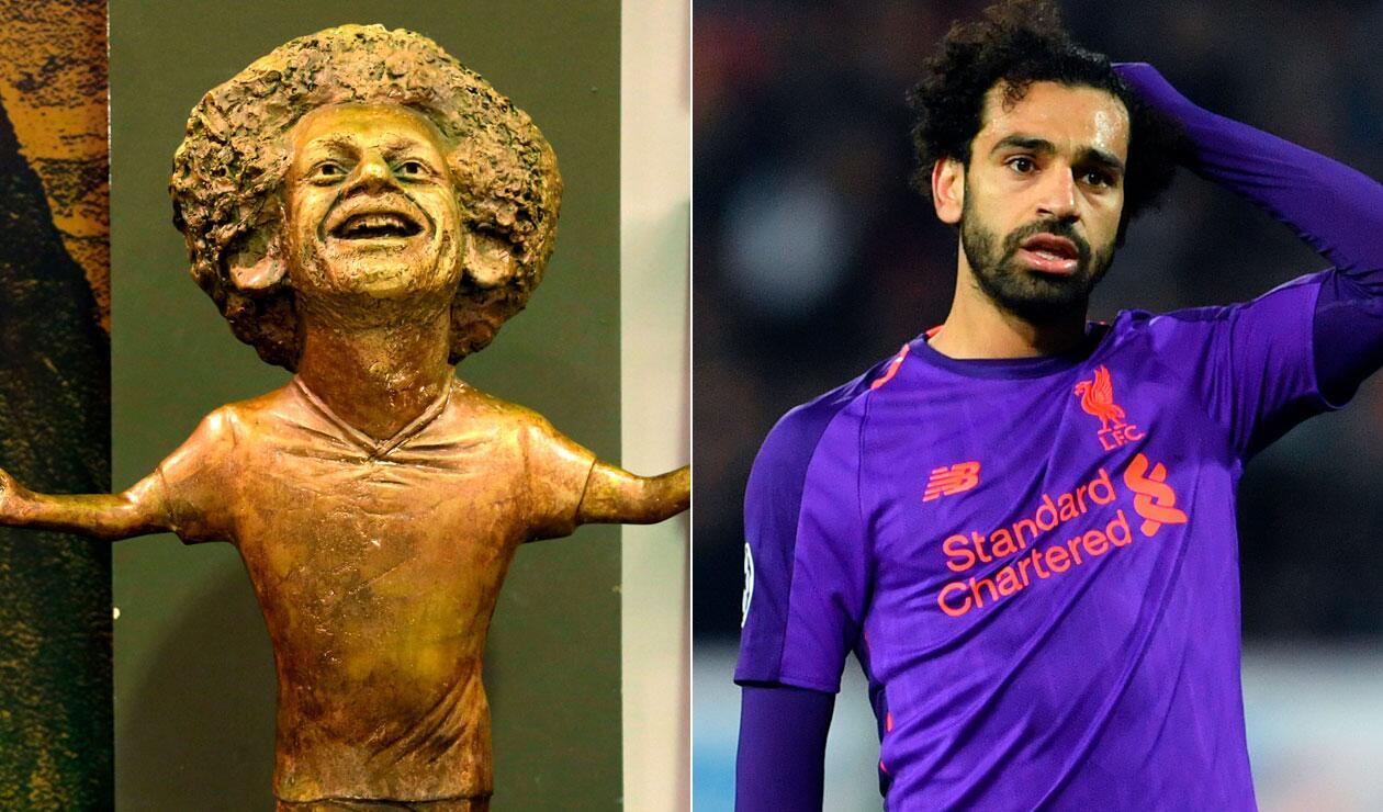 La estatua en homenaje a Mohamed Salah en la ciudad de Sharm el Sheikh