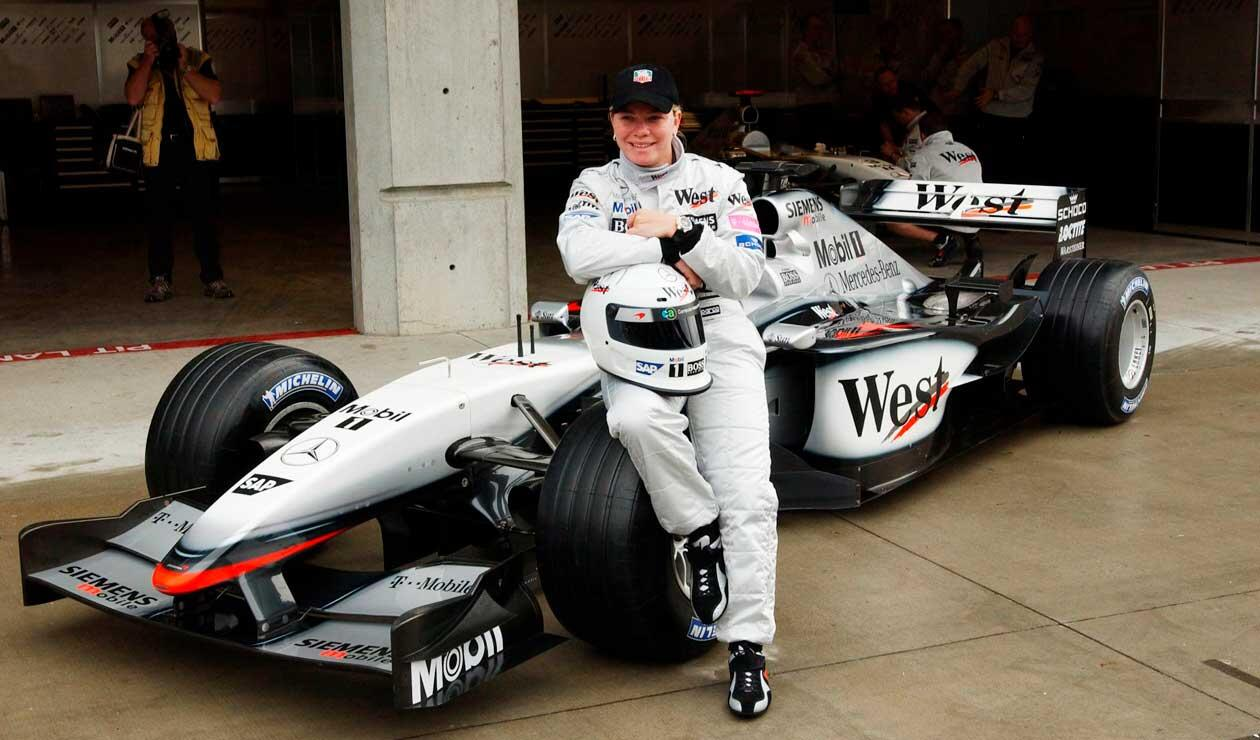 Sarah Fisher con McLaren