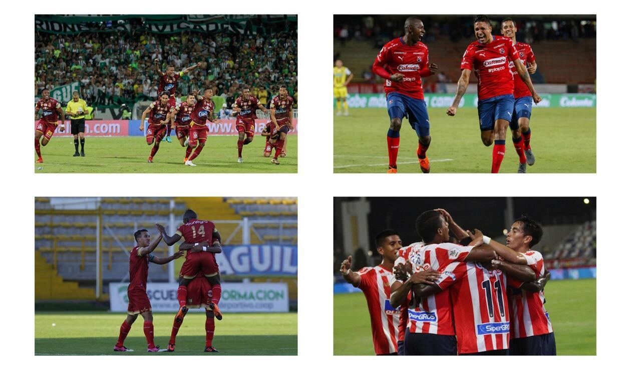 Semifinalistas Liga Águila 2018 - 2