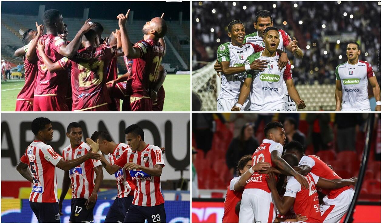 Deportes Tolima, Once Caldas, Junior y Santa Fe