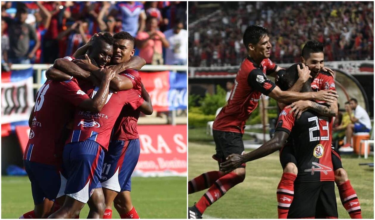 Jugadores de Unión Magdalena y Cúcuta Deportivo