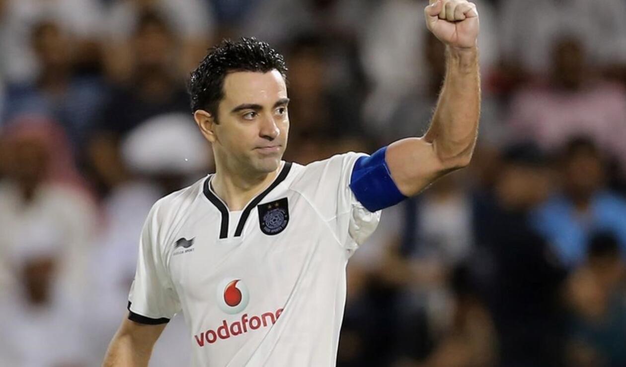 Xavi Hernández, jugador del Al Sadd  de Catar