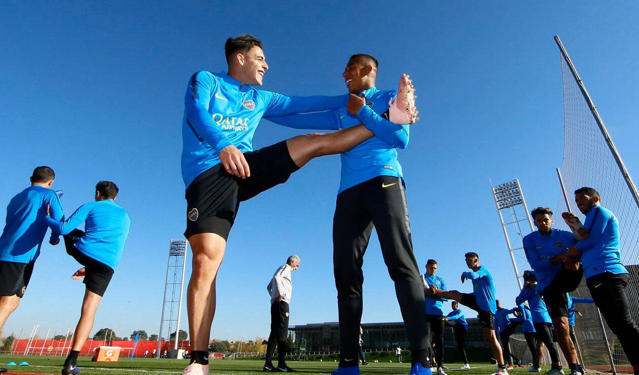 Sebastián Villa se entrena, pensando en la titular del domingo ante River Plate