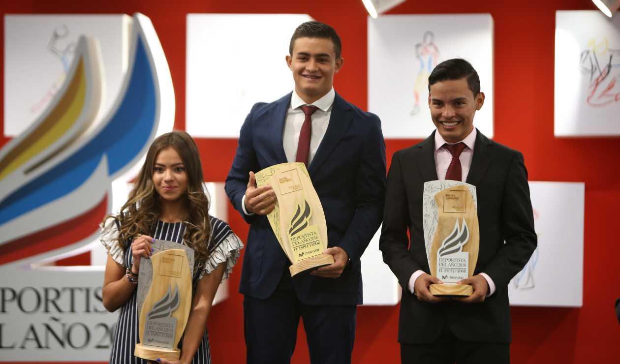 Gabriela Rueda, Daniel Restrepo y Brayan Carreño
